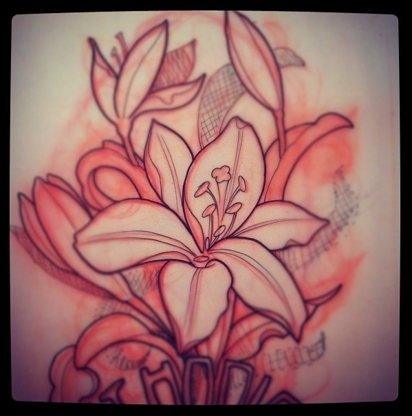 Gallery For gt Lily Tattoo Drawing